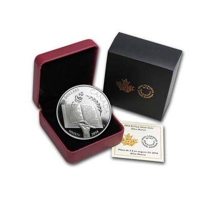 2014 $5 Silver Proof Coin – Alice Munro